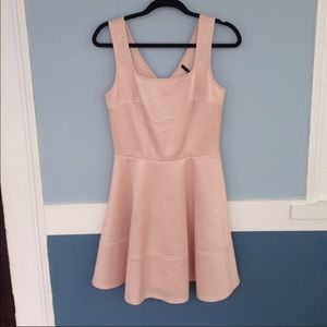 Lulu's Skater Dress- Blush